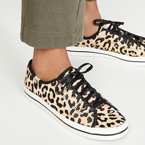Kate Spade Kickstart Leopard Calf Hair Sneakers